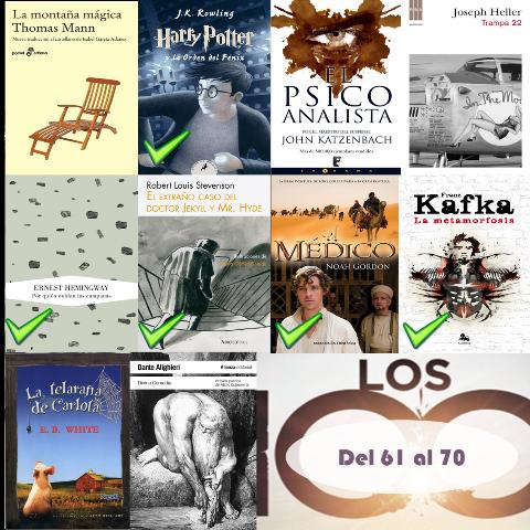61 al 70 de los 100 mejores libros de todos los tiempos
