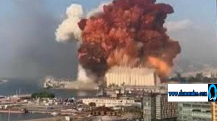 انفجار قوي يهز العاصمة بيروت و يخلف خسائر كبيرة ( فيديو )