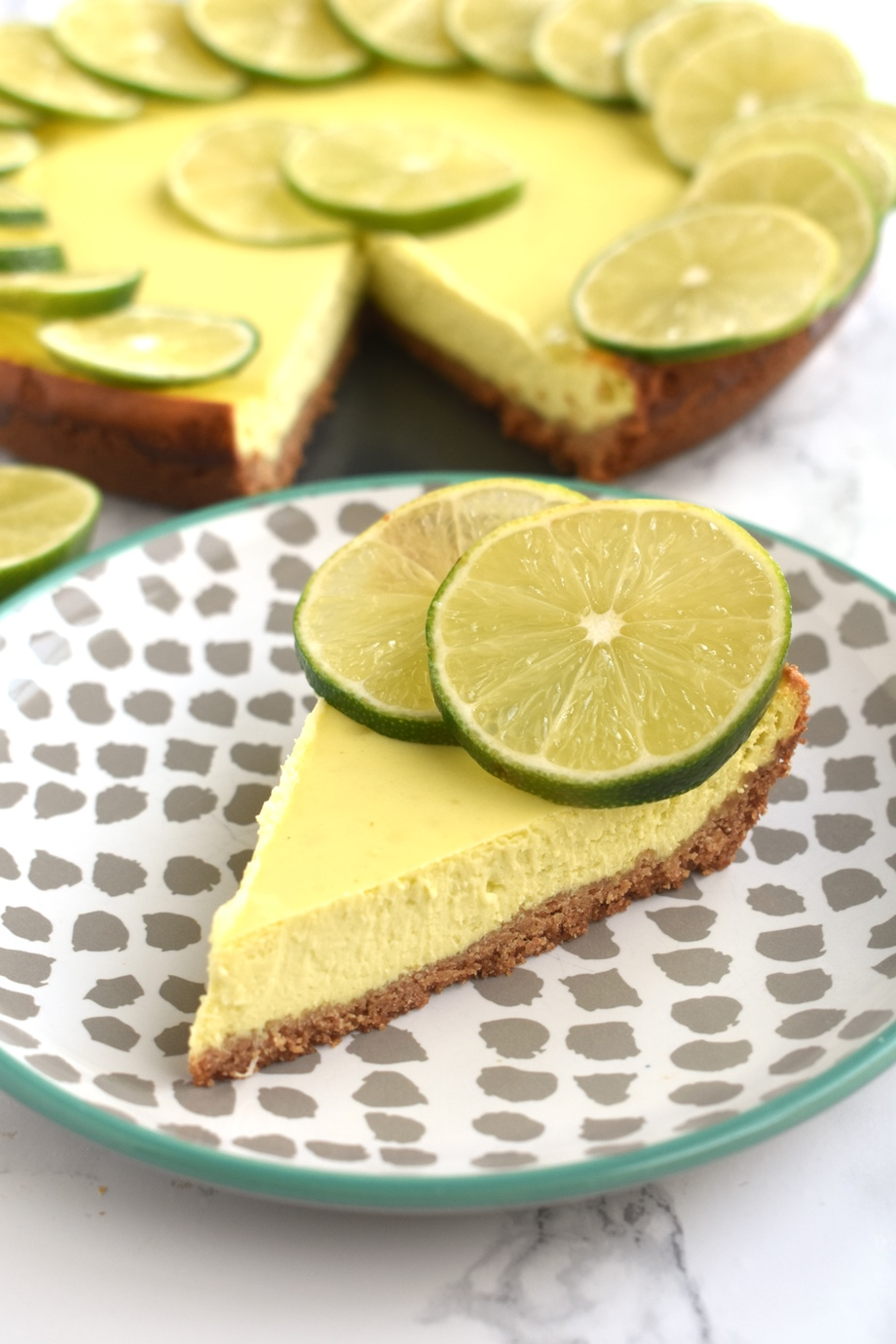 Key Lime Greek Yogurt Cheesecake
