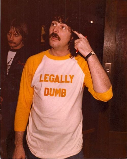 'Legally Dumb' shirt worn by Burton Cumming.  PYGear.com
