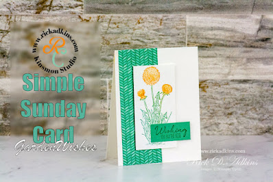 I have another Simple Sunday card for you this week.  This time I am using the Garden Wishes Stamp Set and how to get two color images on one stamp