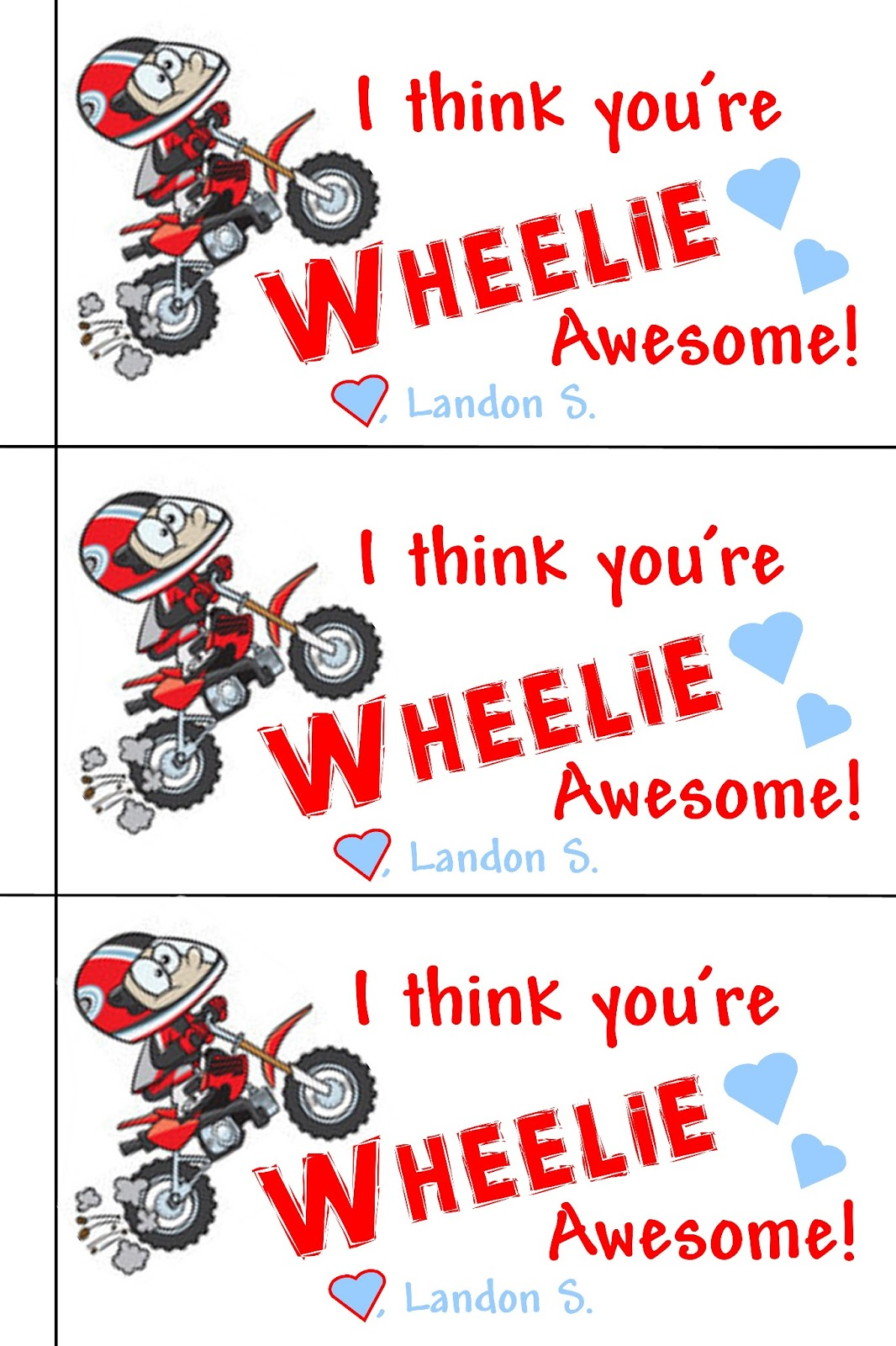 Valentines Happy Day Dirt Bike