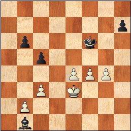 Partida de ajedrez Durao Leal vs Francino, posición después de 27…Ab1!