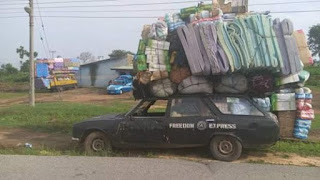See Photos Of Overloaded Vehicles Impounded By FRSC In Cross River 1