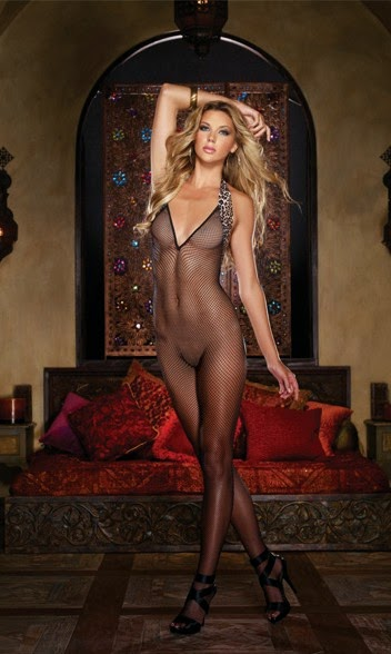 03874eff4 Bring out your inner sex kitten with the Leopard Fishnet