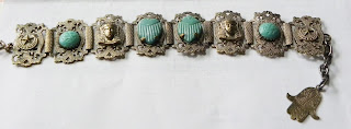 Turquoise Egyptian bracelet in my collection