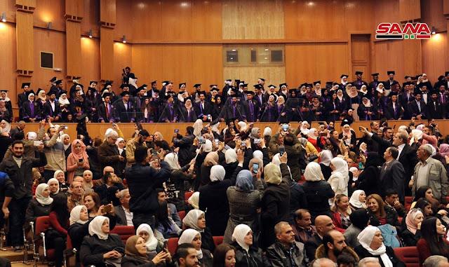 تخريج 290 مهندساً من كلية الهندسة الميكانيكية والكهربائية بجامعة دمشق ..