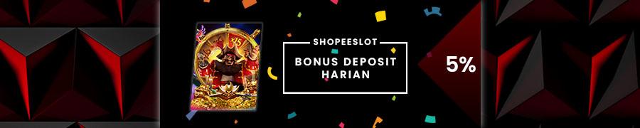 BONUS DEPOSIT HARIAN 5%