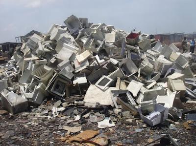 electronics in a landfill