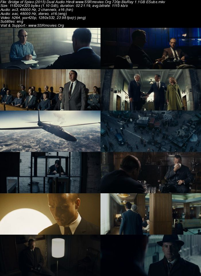 Bridge of Spies (2015) Dual Audio Hindi 480p BluRay x264 450MB ESubs Movie Download