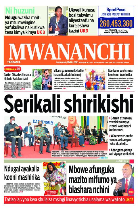 Habari kubwa za Magazeti ya Tanzania leo Mei 8,2021