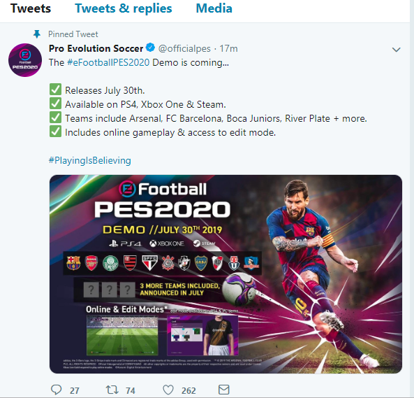 eFootball PES 2020 ! Demo, Release Date and More