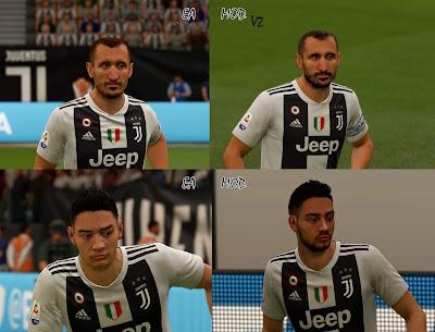 FIFA 19 Faces Giorgio Chiellini & Mattia De Sciglio by APasZ