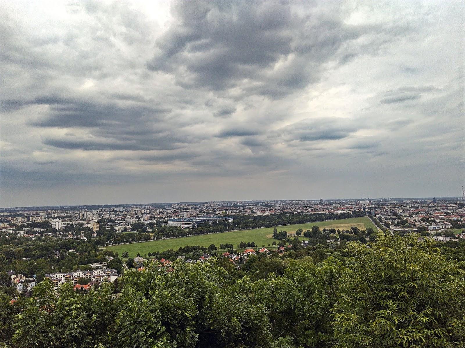 widok na Kraków z Kopca Kościuszki