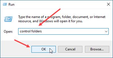 membuka jendela folder options