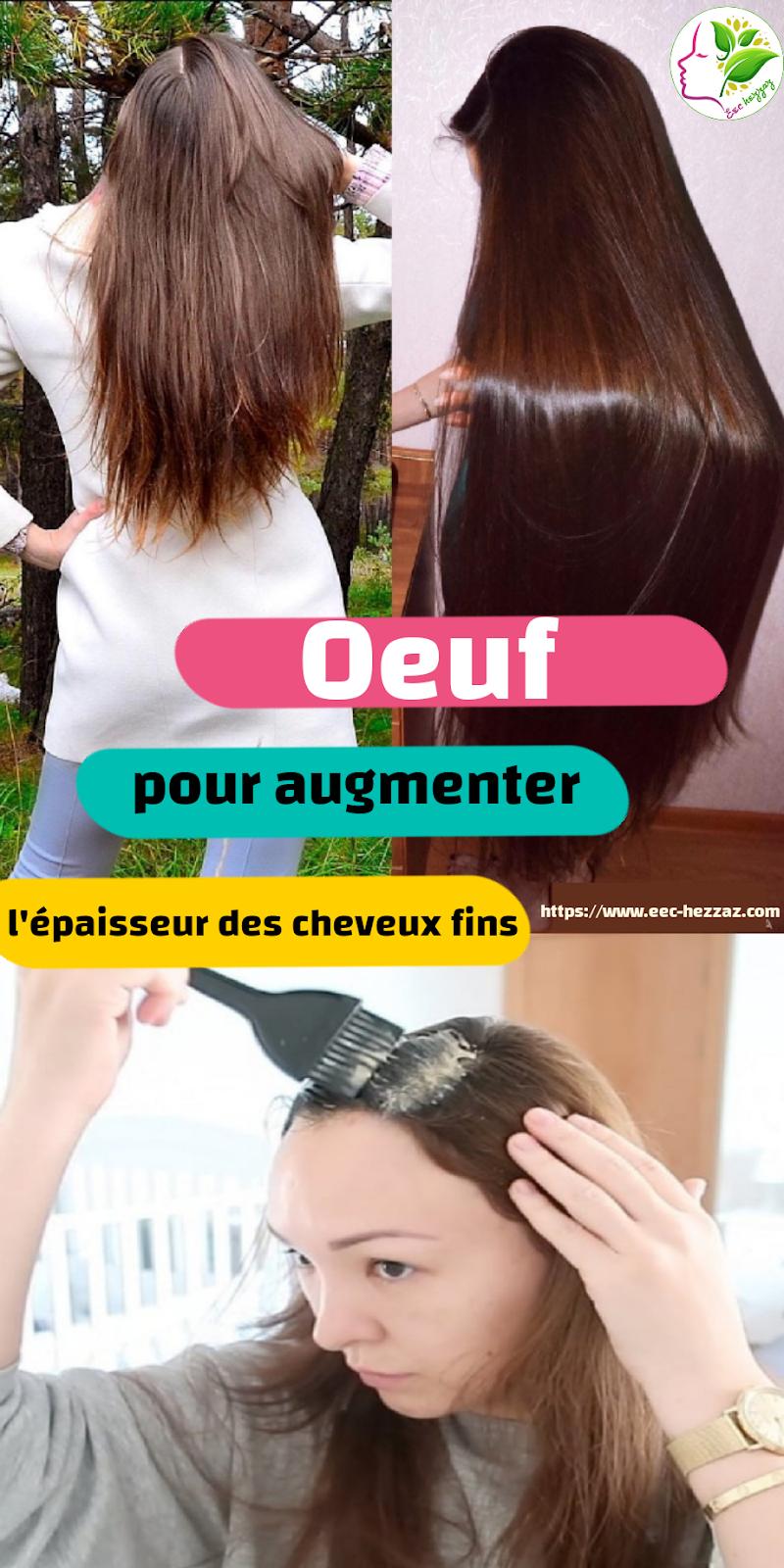 Oeuf pour augmenter l'épaisseur des cheveux fins