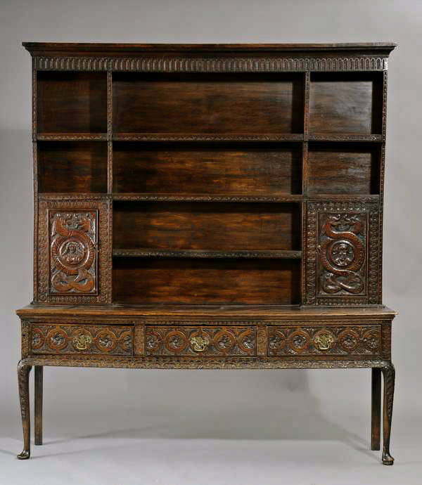 Carved Welsh Dresser Oak for sale