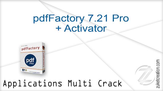 pdfFactory 7.21 Pro + Activator