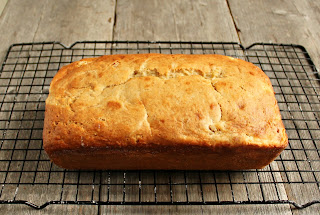 Skinny Banana Bread with Cream Cheese Swirl