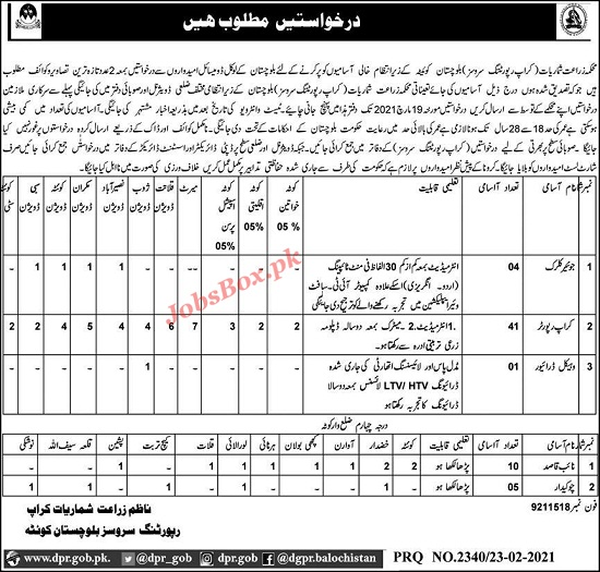 agriculture-department-balochistan-jobs-2021-crop-reporting-services-crps