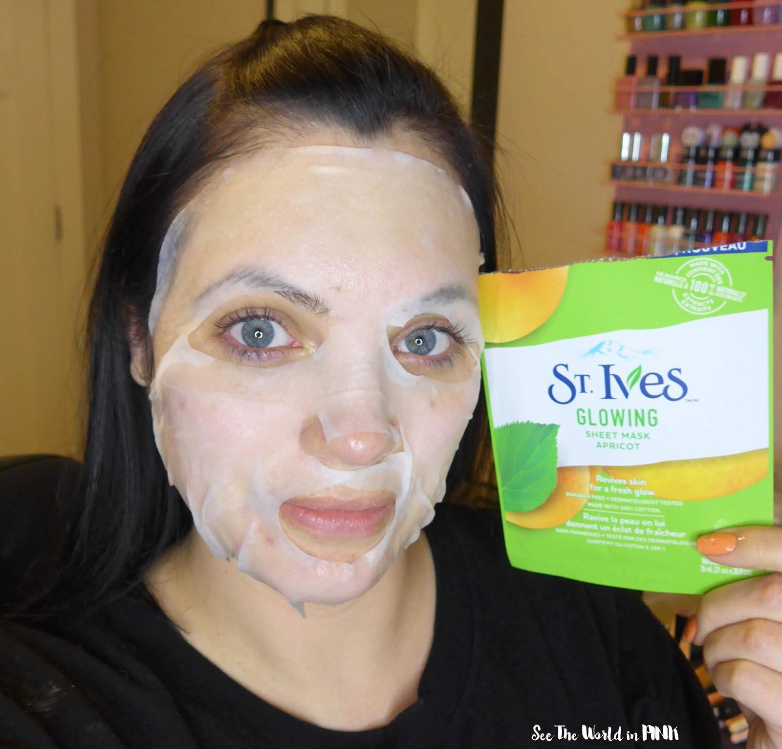 Skincare Sunday - St. Ives Revitalizing Acai & Glow Apricot Sheet Masks