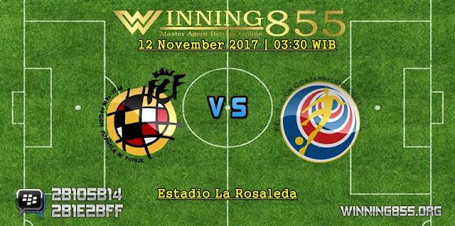 Prediksi Laga Spanyol vs Kosta Rika | 12 November 2017