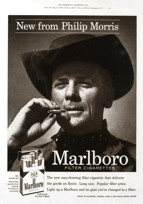 Marlboro advertising 1955 - Marlboro Man