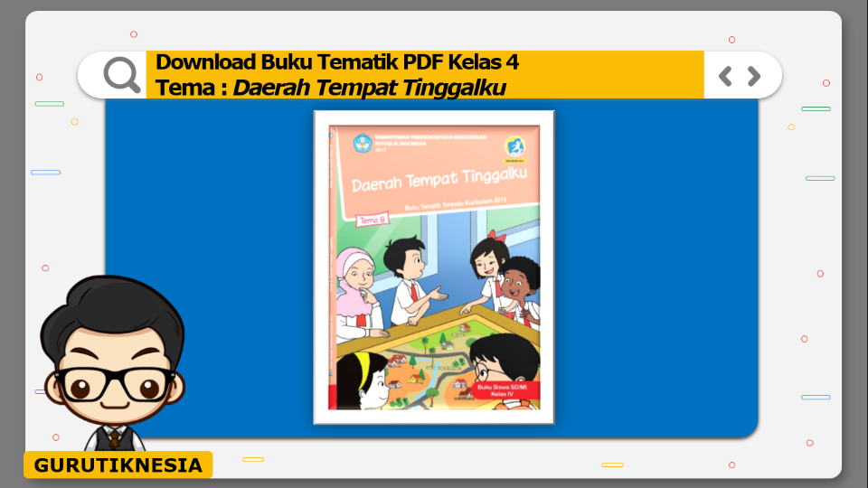 download gratis buku tematik pdf kelas 4 tema daerah tempat tinggalku