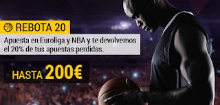 bwin promocion hasta 200 euros Euroliga NBA 11-22 octubre