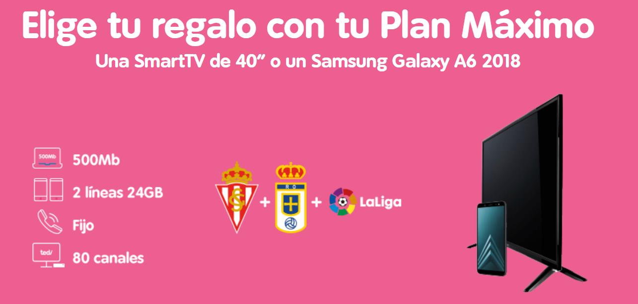 Telecable ofrece un móvil o una TV con su Plan Máximo