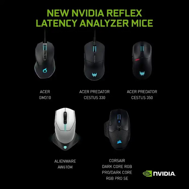 NVIDIA lists gaming mice with Reflex Latency Analyzer support - 11 in total