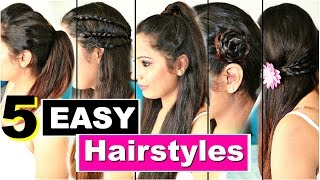 5 Easy Heatless Hairstyles | Quick College Hairstyles