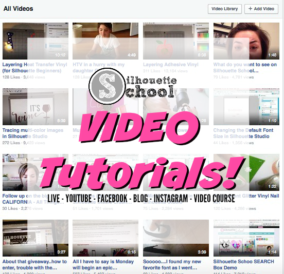 Silhouette video tutorials, Silhouette tutorials