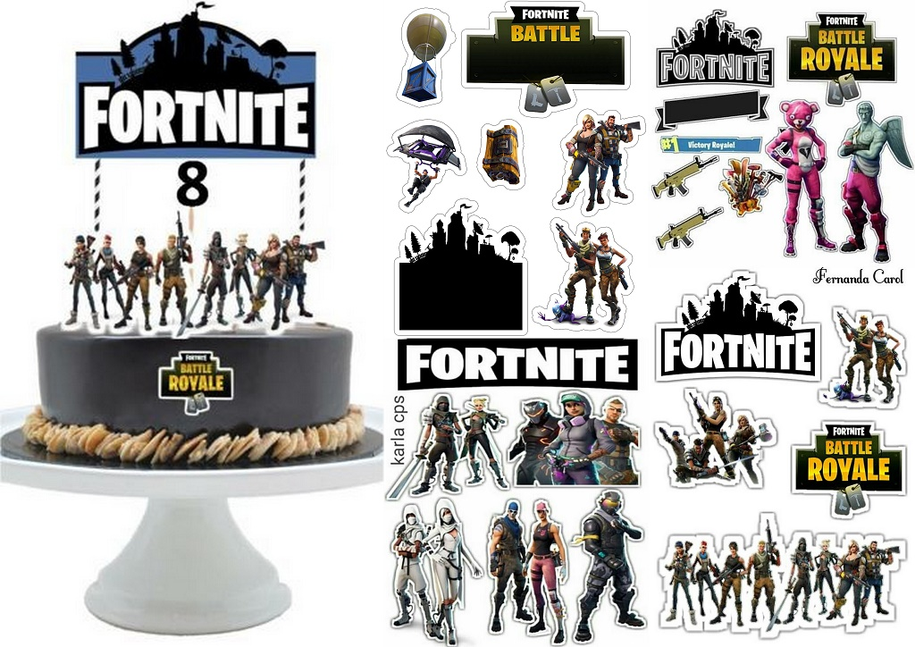 graphic about Fortnite Printable Images called Fortnite Cost-free Printable Cake Toppers. - Oh My Fiesta! for Geeks