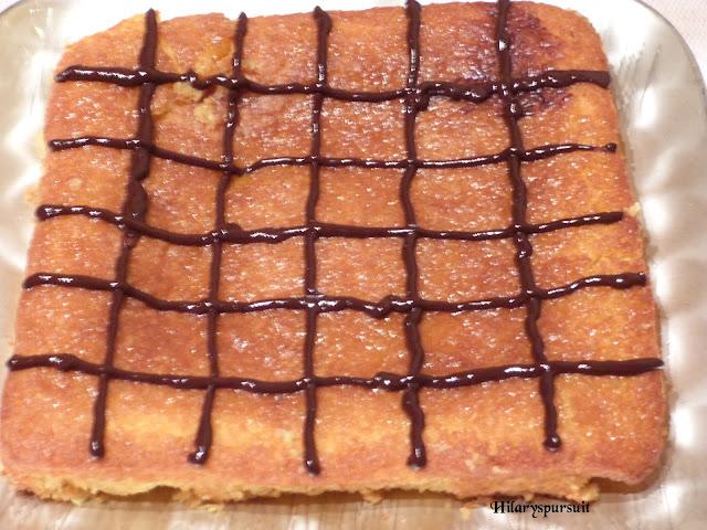 Gâteau à l'orange et accents de chocolat
