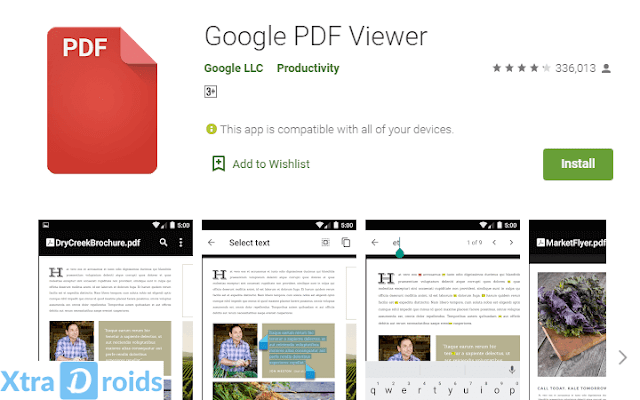 Aplikasi Google PDF Viewer