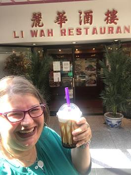 2021, Li Wah Restaurant, Red Bean Milk Tea, Cleveland Oh