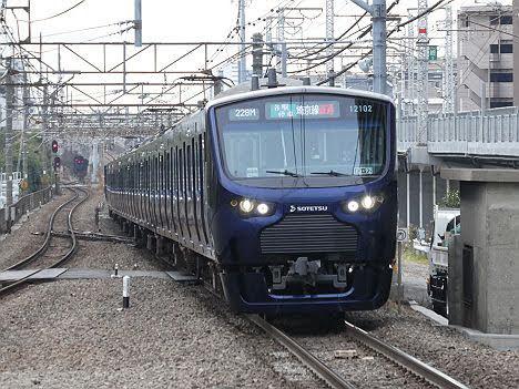 埼京線直通 各駅停車 新宿行き2 相鉄12000系