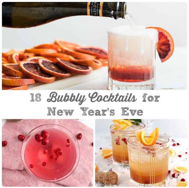 Ring in the new year right with one of these 18 Bubbly Cocktails perfect for a New Year's Eve midnight toast.