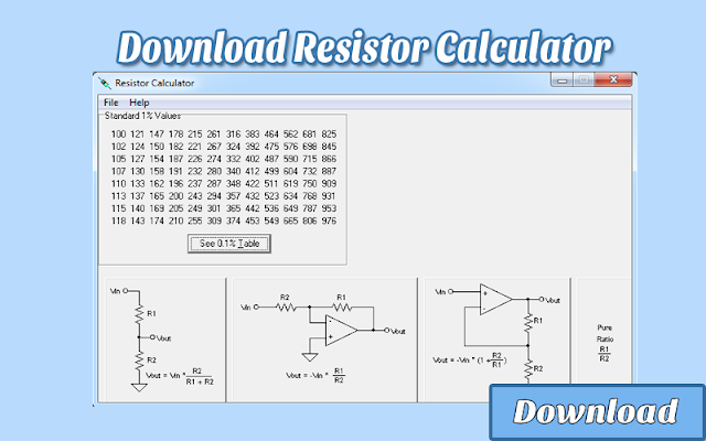 Download Resistor Calculator | Kalkulator / Info & Softwares Elektronika