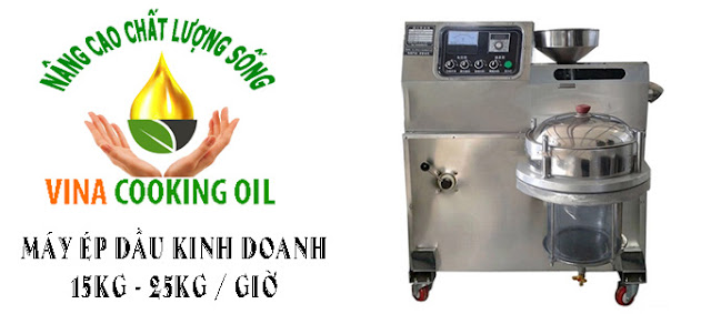 máy ép dầu lạc công suất 15 đến 25 kg một giờ