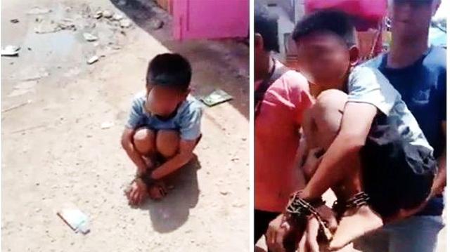Anak Yatim Piatu Dirantai Tangan dan Kakinya, Mulut Dilakban di dalam Gudang Pasar