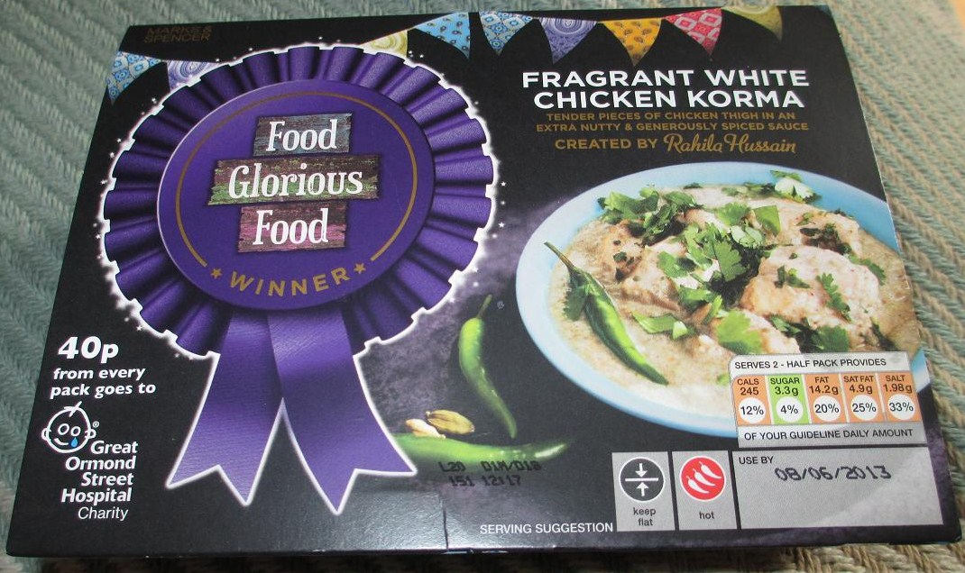 Foodstuff finds fragrant white chicken korma marks spencer by fragrant white chicken korma marks spencer by cinabar forumfinder Image collections