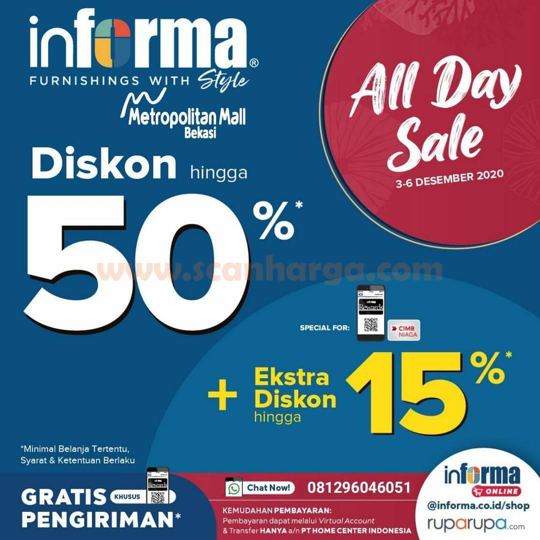 INFORMA Promo ALL DAY SALE - Disc 50% + Extra Diskon Hingga 15% dengan Kartu CIMB Niaga