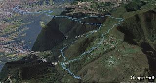 Hiking tracks from Bergamo to Buche di Nese.
