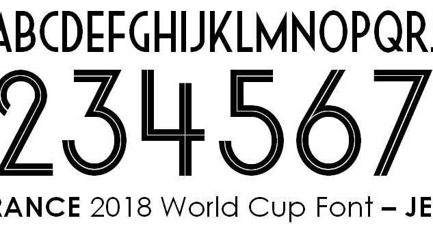 Merecer Piquete transferencia de dinero  France 2018 World Cup Font