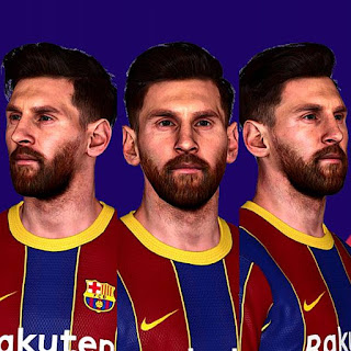 Lionel Messi New Face + Tattoo V3 PES 2017