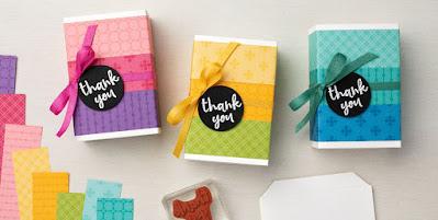 Stampin' Up! Sale-a-Bration Spotlight: Designer Paper Treat Boxes + Color Coach Download #stampinup #saleabration #sab2021