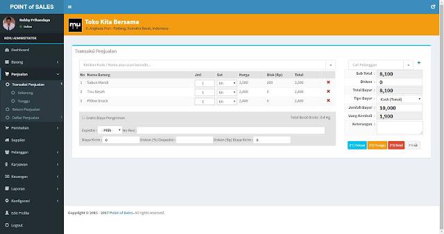 MANGGALEH - Point of Sales dengan Codeigniter 3.x dan Database MySQL