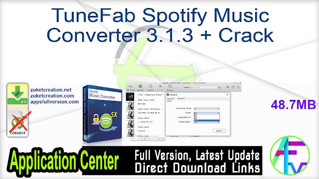 TuneFab Spotify Music Converter 3.1.3 + Crack
